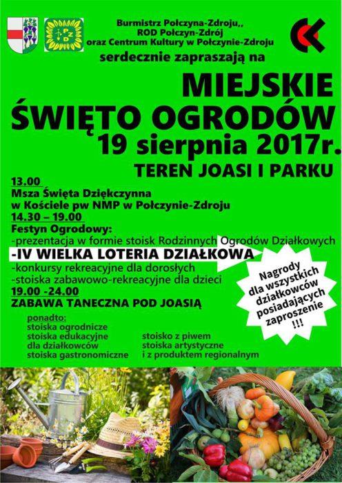 plakat święto ogrodów 2017
